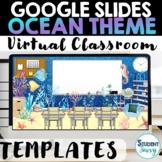 Ocean Google Slides Templates Ocean Virtual Classroom Distance Learning