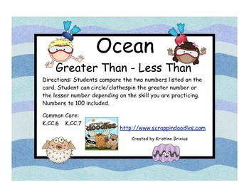 Ocean Greater Than - Less Than