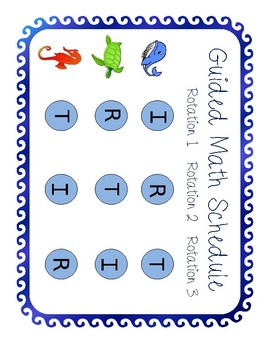 Ocean Guided Math Schedule (Editable)
