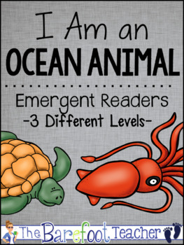 Ocean Habitat Animals Emergent Readers (3 Levels) + Matching Full Color  Books