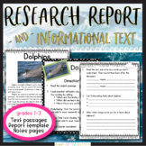 Ocean Habitat: Close Reading & Informational Report Writing