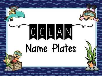 Ocean Habitat Name Plate / Labels