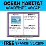 Ocean Habitat Projectable Academic Vocabulary