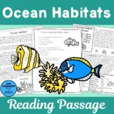 Ocean Habitat Reading Passage and Comprehension Activities