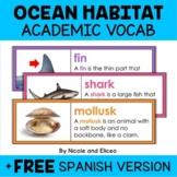 Ocean Habitat Word Wall Vocabulary