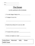 Ocean Habitat Worksheet