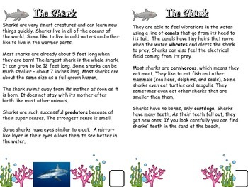 Ocean Habitat and Animal Research Informative and Narrative writing