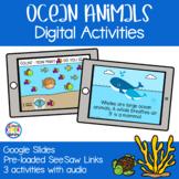 Ocean Habitat and Animals - Digital Activities | Google Sl