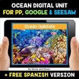 Ocean Habitats Digital Activities for Google and Seesaw -
