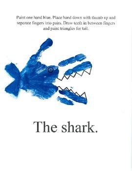 Ocean Handprint Book
