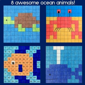 Ocean Hundreds Chart Mystery Pictures