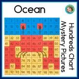 Ocean 100s Chart Activities | No prep worksheets