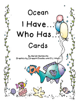 Ocean I Have... Who Has... Cards