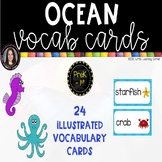 Ocean Vocabulary Word Wall Cards