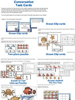 Pre-K Ocean Interactive Math Mega Pack with 3-D Ocean Diorama