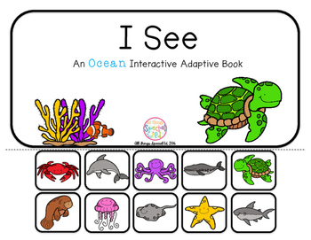 """Ocean Interactive Adaptive books - set of 2 (""""I See and """"How Many?)"""