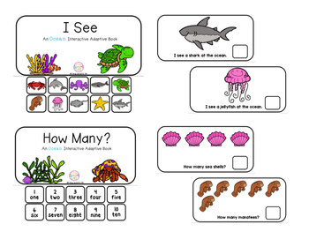 "Ocean Interactive Adaptive books - set of 2 (""I See and ""How Many?)"