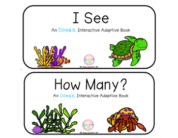 """Ocean Interactive Adaptive books - set of 2 (""""I See and """"H"""