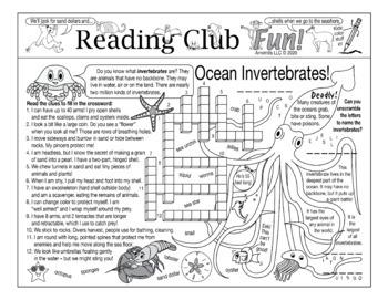 Ocean Invertebrates Two-Page Activity Set