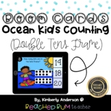 Ocean Kids Counting BOOM Cards - Subitizing: Double Tens Frame