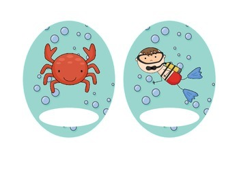 Ocean Labels, Classroom Organization