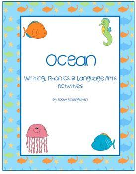 Ocean Language Arts, Phonics, and Writing Pack