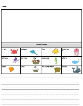 Ocean Language Arts, Phonics, and Writing Pack
