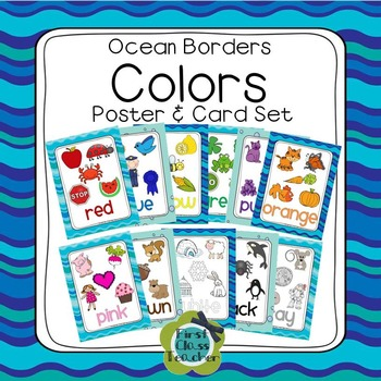 Ocean Learn My Colors Poster Set