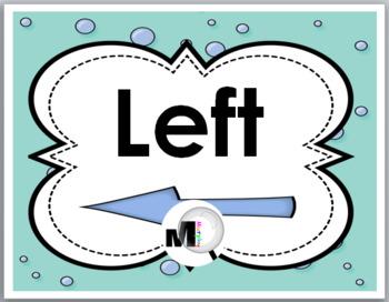Positional Words - Ocean Theme Classroom Decor - Left & Right