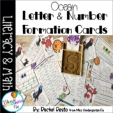 Ocean Letter and Number Formation Writing Cards