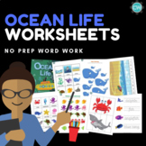 Ocean Life Thematic Unit | great for distance learning and home PRINT & GO