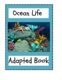 Ocean Life Adapted Book