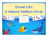 Ocean Life Addition Match: With 3 Addends!