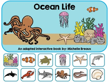 Ocean Life--An Adapted Interactive Book {Autism & Early Childhood}