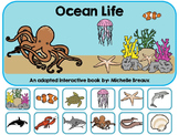 Ocean Life--An Adapted Interactive Book {Autism & Early Ch