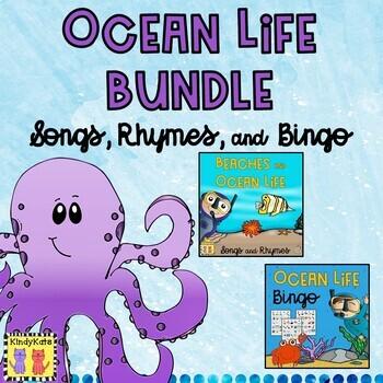 Beaches and Ocean Life BUNDLE: Songs and Rhymes + Bingo
