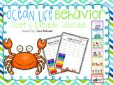 Ocean Life Behavior Chart and Editable Calendars
