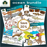 Ocean Life Clip Art Bundle