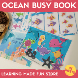 Ocean Life Busy Book Preschool Learning Binder Printable C