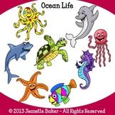 Ocean Life Clip Art by Jeanette Baker