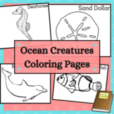Ocean Life Coloring Sheets with Sea Animals and Plants