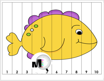 number puzzles ocean animals by marcia murphy tpt. Black Bedroom Furniture Sets. Home Design Ideas