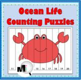 Number Puzzles - Ocean Animals