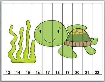 Ocean Animals Math  - Set 2 - Number Puzzles