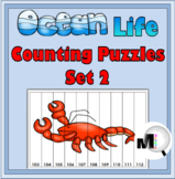 Ocean Animals Math  - Set 2 - Number Puzzles