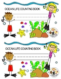 Ocean Life Counting and Tracing Mini Book