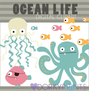 Ocean Life Digital Clip Art