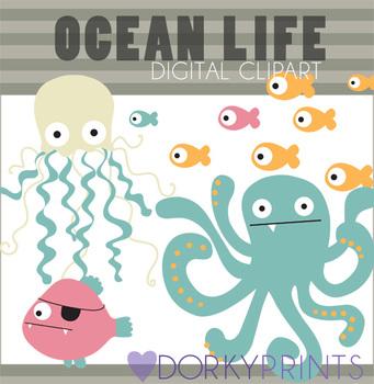 Ocean Life Digital Clip Art
