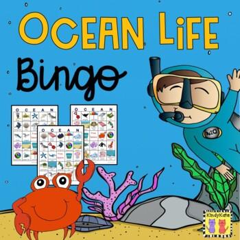 Ocean Life Lotto Game: Fish, Whales, Starfish, Octopus, Su