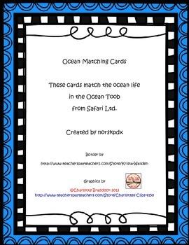 Ocean Life Matching Cards